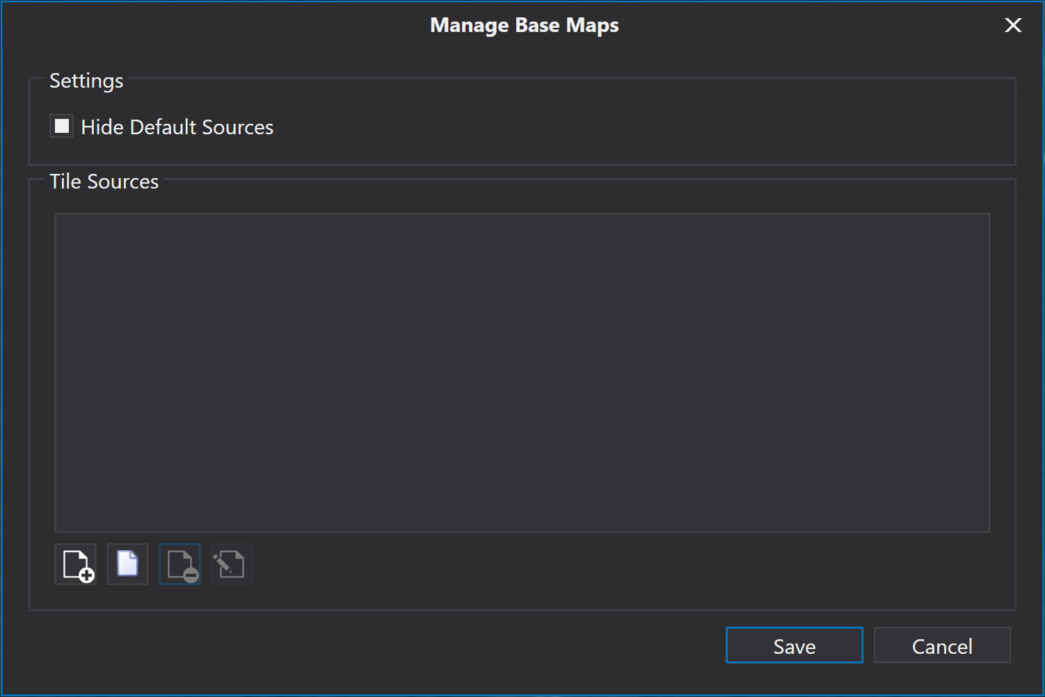 Manage Base Maps