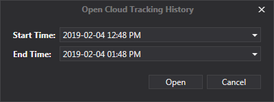 Viewing Tracks - Cloud History